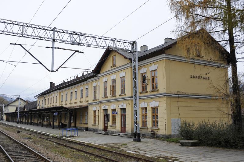 Dworzec kolejowy w Zakopanem. Fot. D. Moździerz, 2009