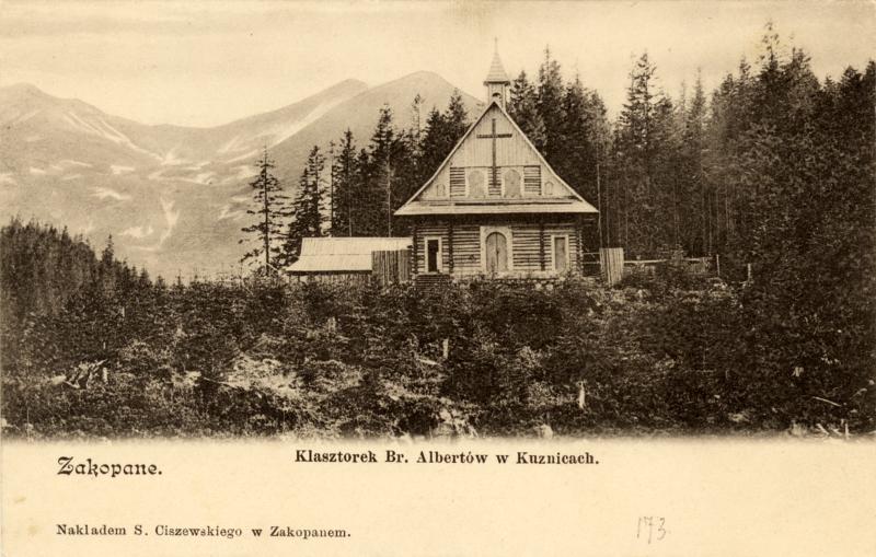 Klasztor Braci Albertynów. Pocztówka, nakład S. Ciszewskiego, ok. 1900. MT ZA