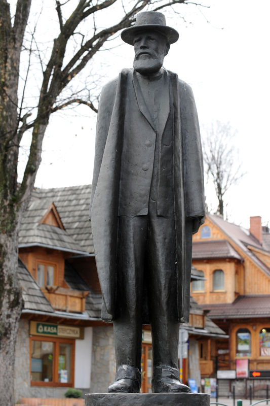 Pomnik Władysława hr. Zamoyskiego na Krupówkach. Fot. D. Moździerz, 2013