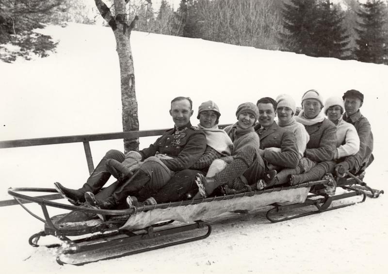 Bobslej w Kuźnicach. Fot. ok. 1914. MT ZA